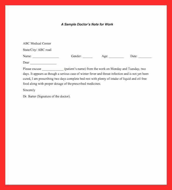 Dental Excuse Note Best Of Dental Excuse Letter