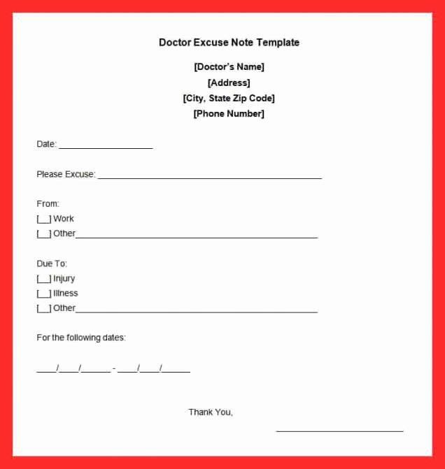 Dental Excuse Note Fresh Dentist Doctors Note