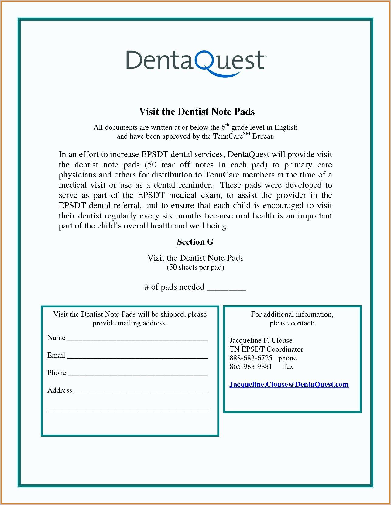Dental Excuse Note Unique 7 Dental Note Examples Pdf