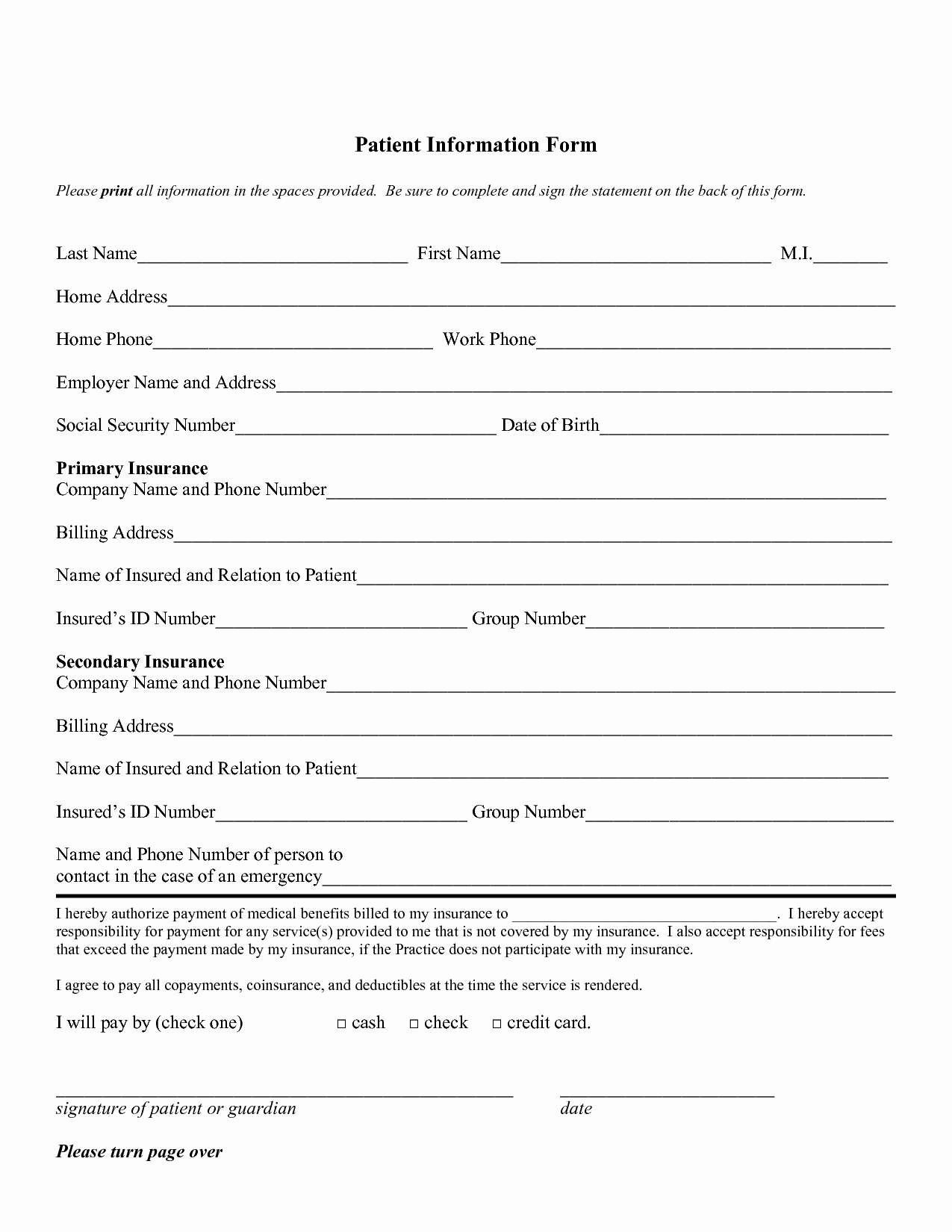 Dental Patient forms Template Fresh 28 Of Patient Paper Work Template