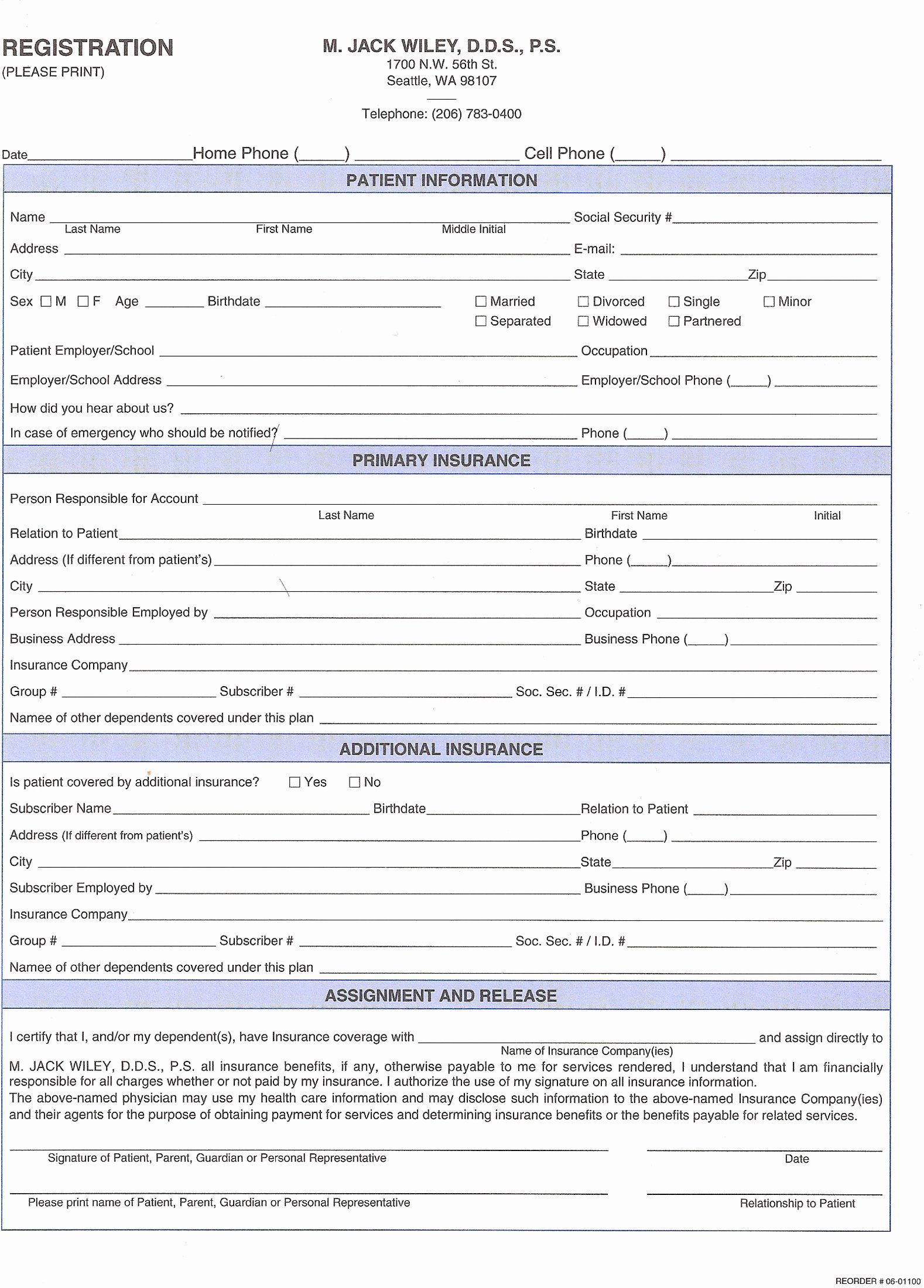 Dental Patient forms Template Inspirational 27 Of Dental New Patient forms Template