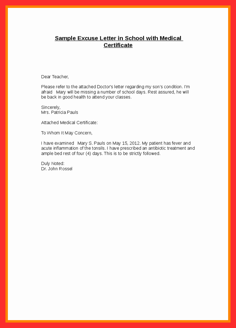 Dentist Excuse Letter for School Awesome Dental Excuse Letter