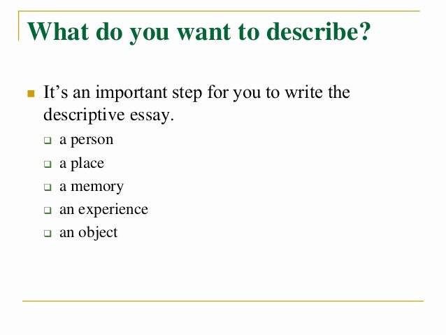Descriptive Essay Examples College Lovely How to Write A Descriptive Essay Title Capitalization