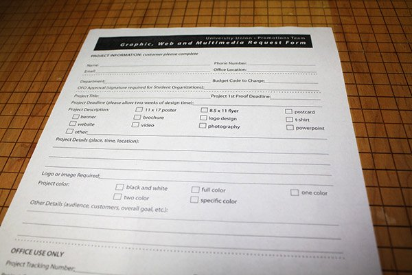 Design Request form Template Lovely Uwgb Graphic Request form On Behance