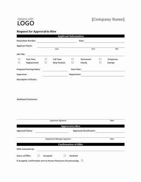 Design Request form Template Luxury Job Work Hire Approval Request form Templates Microsoft