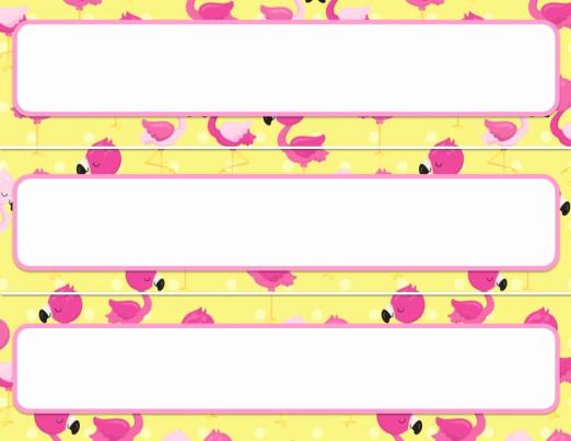 Desk Name Tag Template Luxury Desk Name Tags Editable Flamingo theme