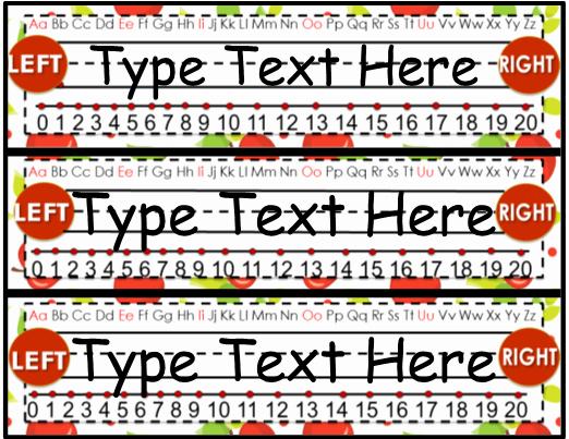 Desk Name Tag Template New Desk Name Plates Editable Apple theme