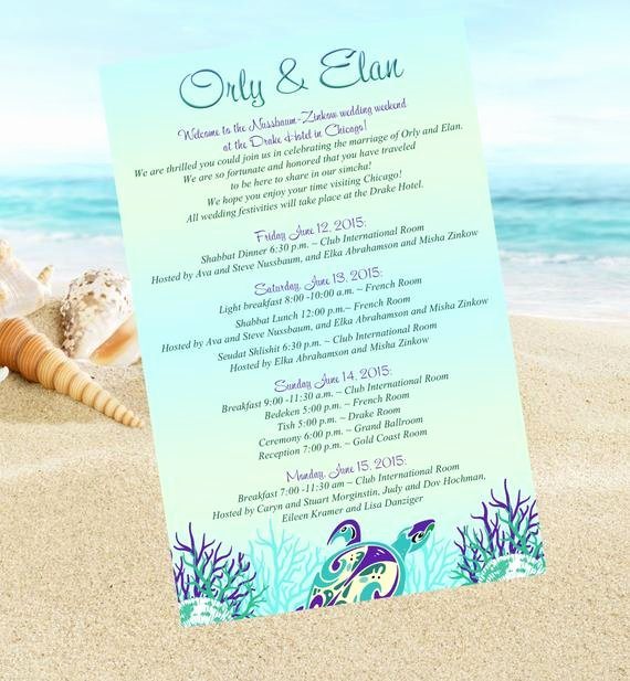 Destination Wedding Itinerary Template Fresh 20 Beach Wedding Itinerary Ceremony Programs Schedule