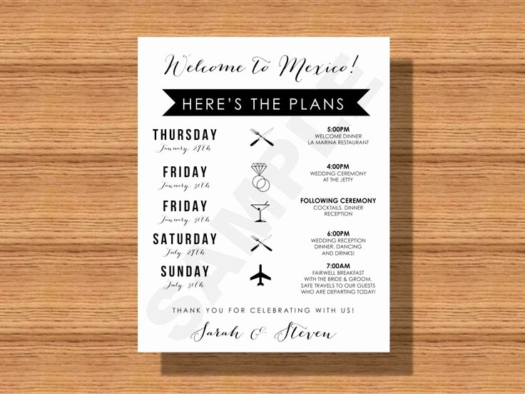 Destination Wedding Itinerary Template Fresh 25 Best Ideas About Wedding Weekend Itinerary On