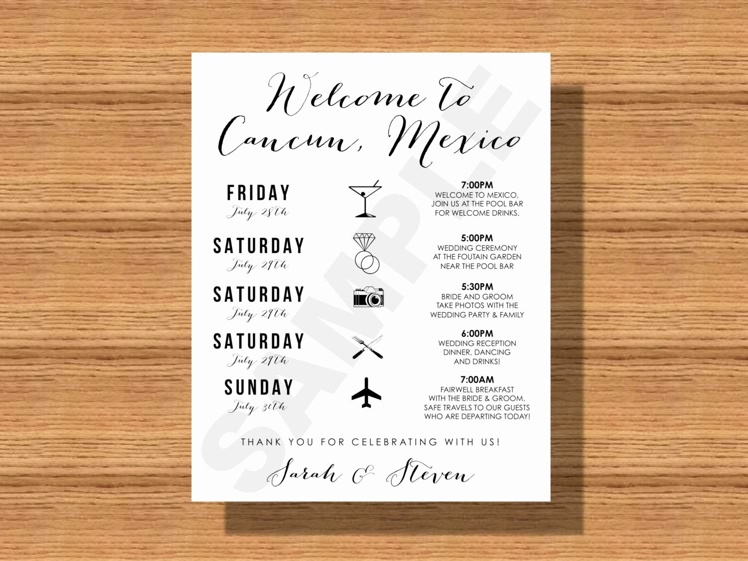 Destination Wedding Itinerary Template Lovely Destination Wedding Weekend Itinerary Wedding Schedule Of
