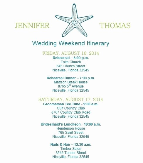Destination Wedding Itinerary Template New 19 Best Wedding Itinerary Images On Pinterest
