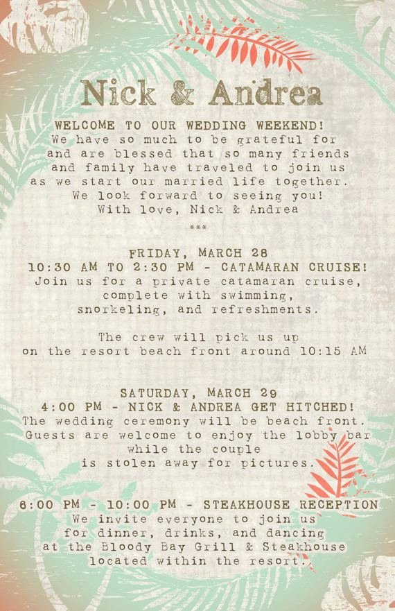 Destination Wedding Itinerary Template New Best 25 Save the Date Wording Ideas On Pinterest