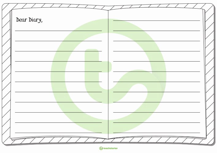 Diary Entry Template Word Fresh Dear Diary Writing Template Ks2 U2013 Gardensbymaryve Day