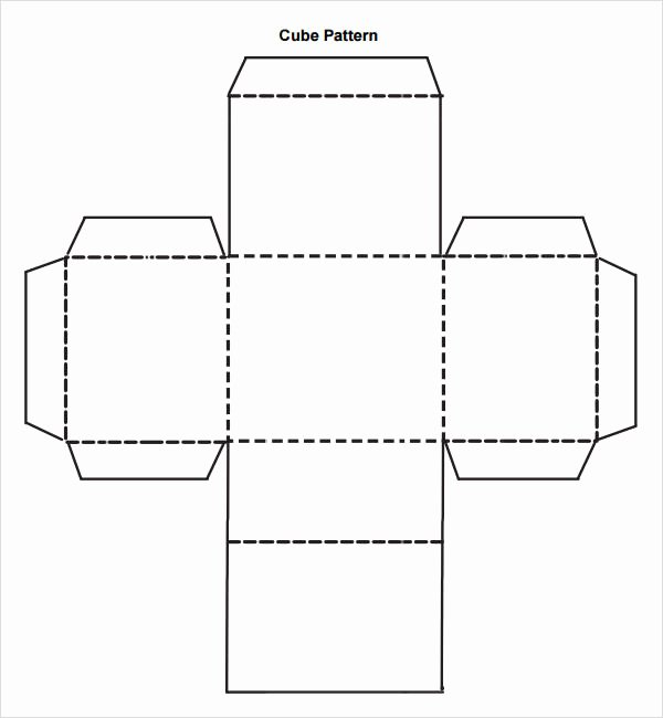 Dice Template Pdf Beautiful 9 Sample Cube Templates