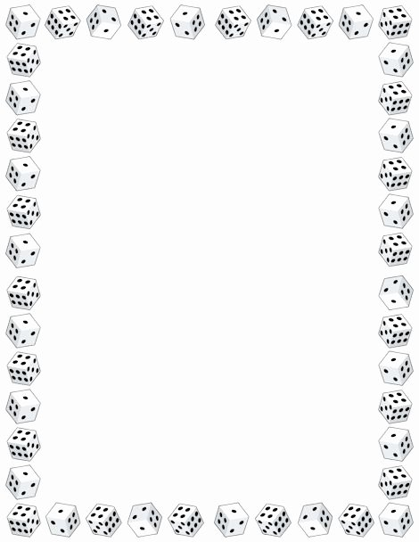 Dice Template Pdf Lovely Printable Dice Border Free Gif Jpg Pdf and Png
