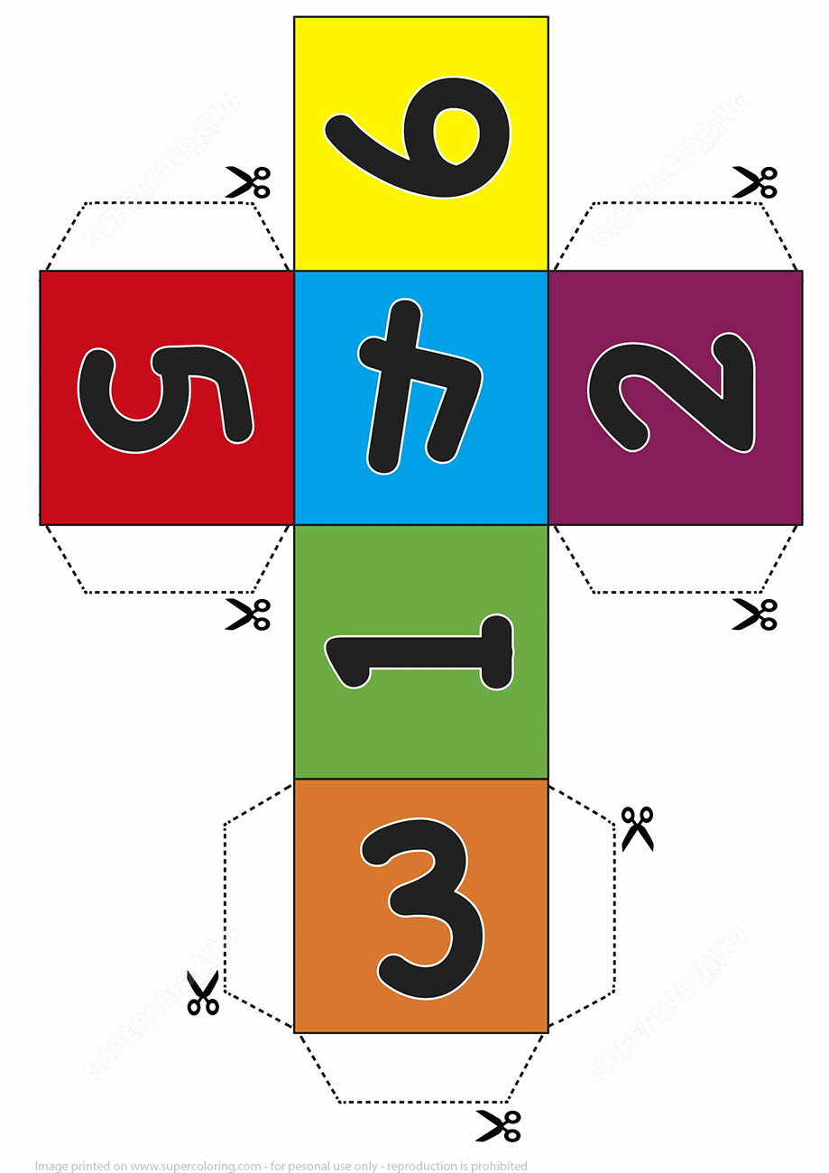 Dice Template Pdf Unique Paper Dice Cube Template with Numbers