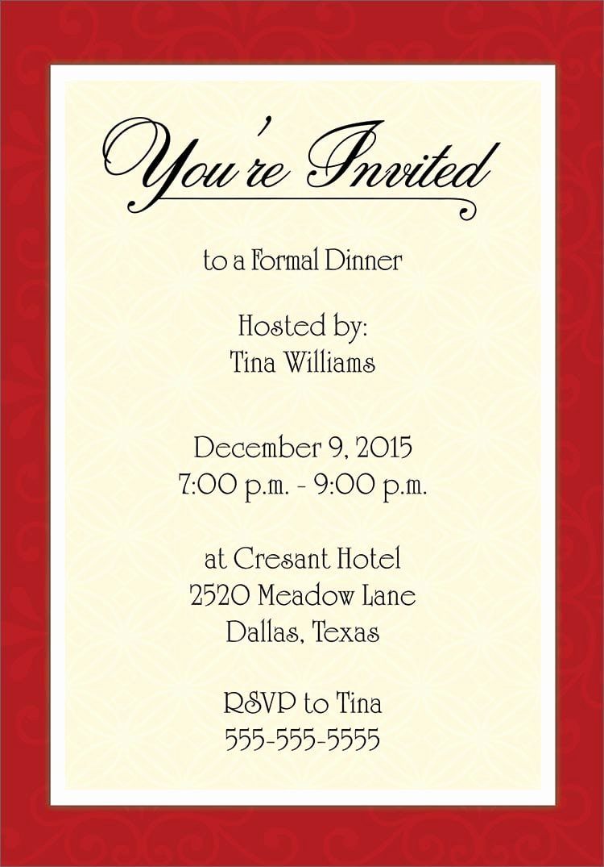 Dinner Invite Template Word Elegant Invitation Template Word