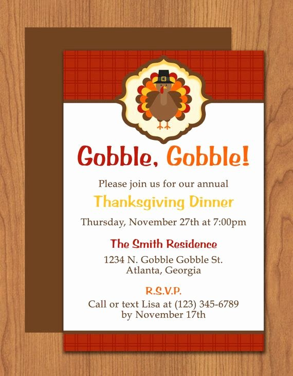Dinner Invite Template Word Elegant Thanksgiving Turkey Dinner Invitation