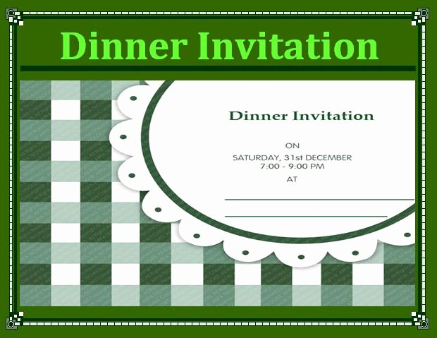 Dinner Invite Template Word Fresh Free Word Templates Part 2