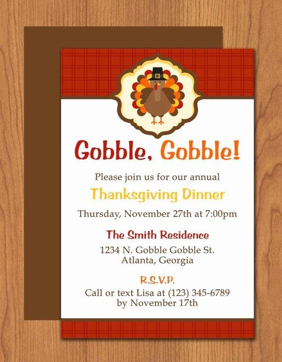 Dinner Invite Template Word Fresh Thanksgiving Turkey Dinner Invitation