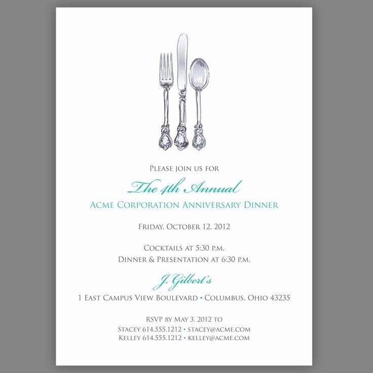 Dinner Invite Template Word Inspirational Corporate Dinner Invitation Pany Dinner Invitation