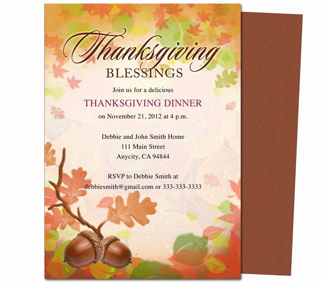 Dinner Invite Template Word Lovely Free Thanksgiving Invitations Email