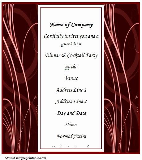 Dinner Invite Template Word Luxury Business Dinner Invitation Printable Business Dinner