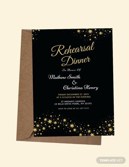 Dinner Invite Template Word New Free Rehearsal Dinner Party Invitation Template Download