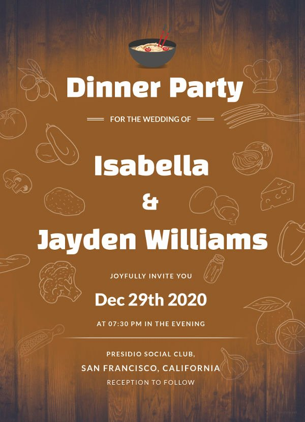 Dinner Invite Template Word Unique 40 Free Wedding Templates In Microsoft Word format