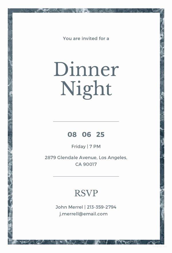 Dinner Invite Template Word Unique 47 Dinner Invitation Templates Psd Ai