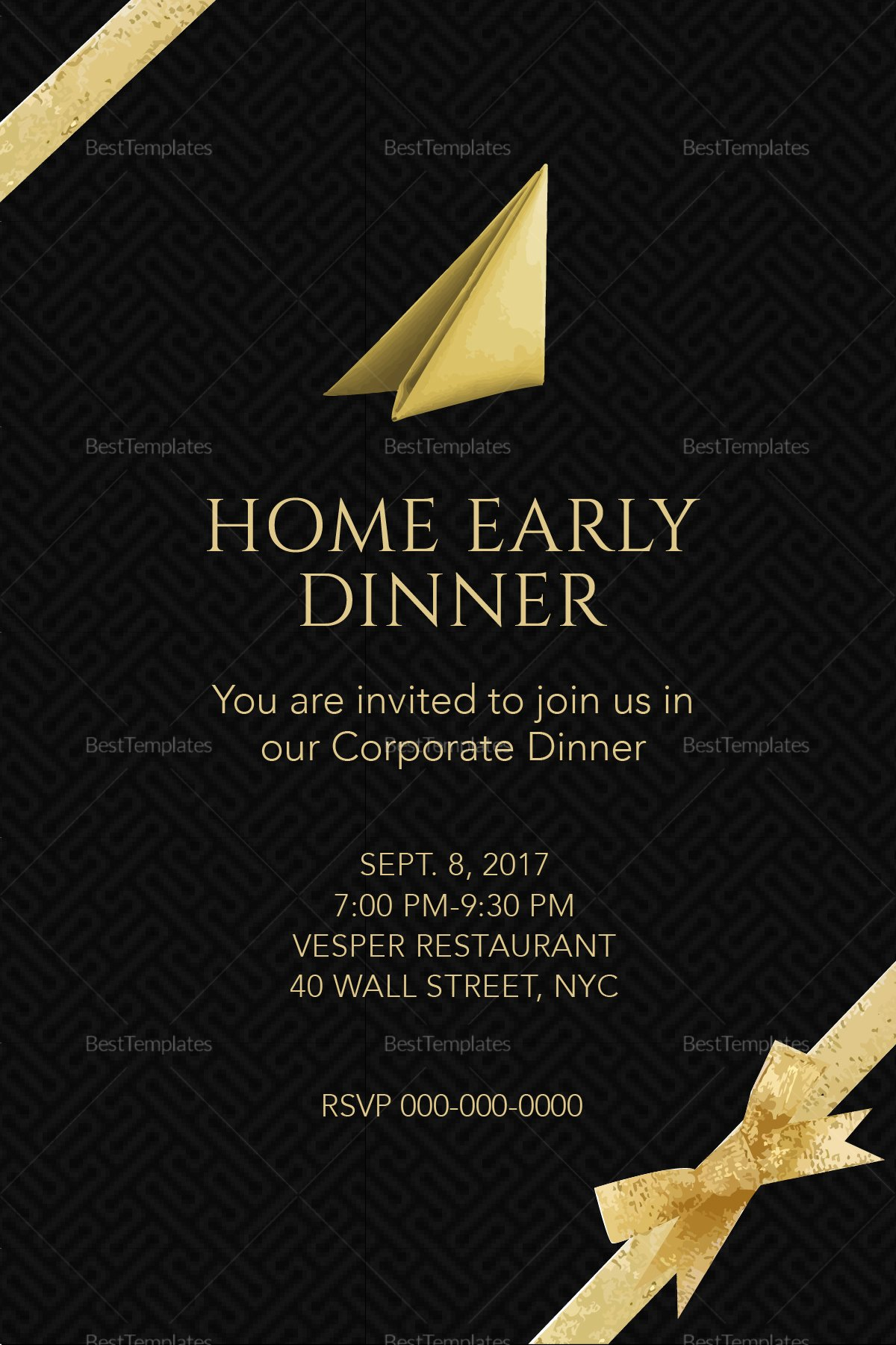 Dinner Invite Template Word Unique Corporate Dinner Invitation Design Template In Psd Word