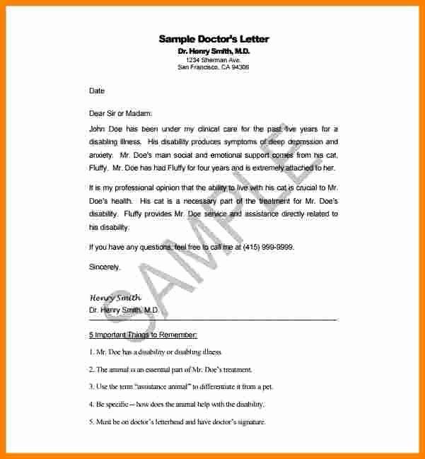 Disability Letter From Doctor Sample Elegant 7 Disability Letter From Doctor