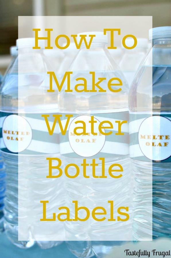 Diy Water Bottle Label Template Elegant Fancy Diy Water Bottle Designs