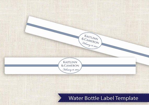 Diy Water Bottle Label Template Luxury Best S Of Water Bottle Template Ms Word Water