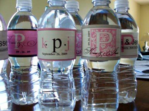 Diy Water Bottle Label Template Luxury something Bling Bridal Shower