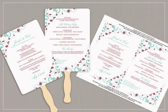 Diy Wedding Fan Template Awesome Diy Wedding Fan Program Template Download by Karmakweddings