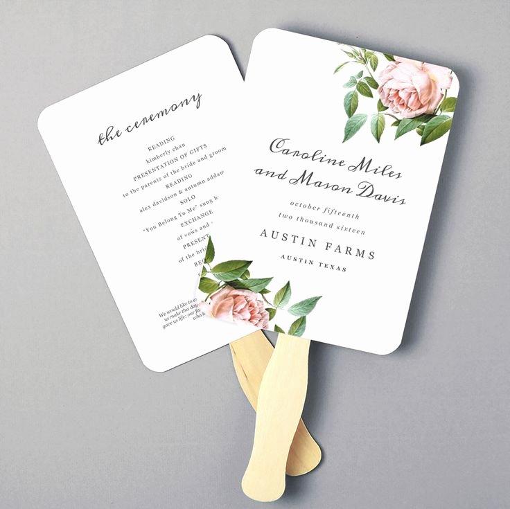 Diy Wedding Fan Template Elegant Best 25 Wedding Program Templates Ideas On Pinterest