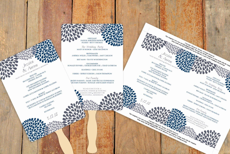 Diy Wedding Fan Template Elegant Diy Wedding Fan Program Template Download by Karmakweddings