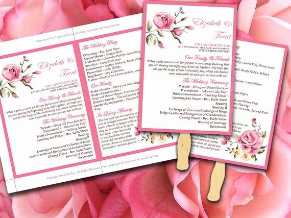 Diy Wedding Fan Template Elegant Items Similar to Diy Wedding Fan Program Template