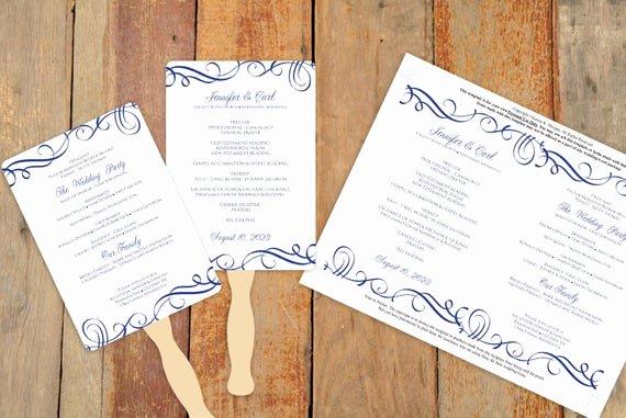 Diy Wedding Fan Template Inspirational Diy Wedding Fan Program Template Download by Karmakweddings