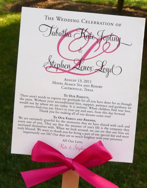 Diy Wedding Program Fan Templates Best Of Diy Ceremony Program that Doubles as A Fan