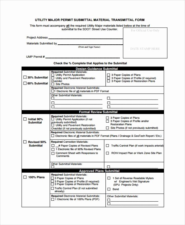 Document Transmittal form Template Beautiful 8 Sample Submittal Transmittal forms Pdf Word