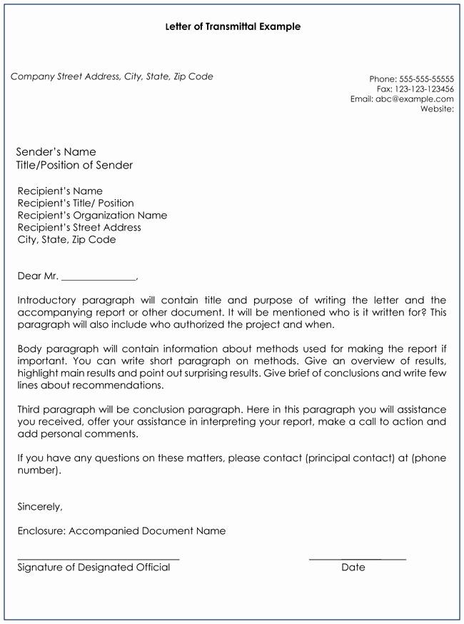 Document Transmittal form Template Elegant Transmittal Letter Templates 10 Best Examples & formats