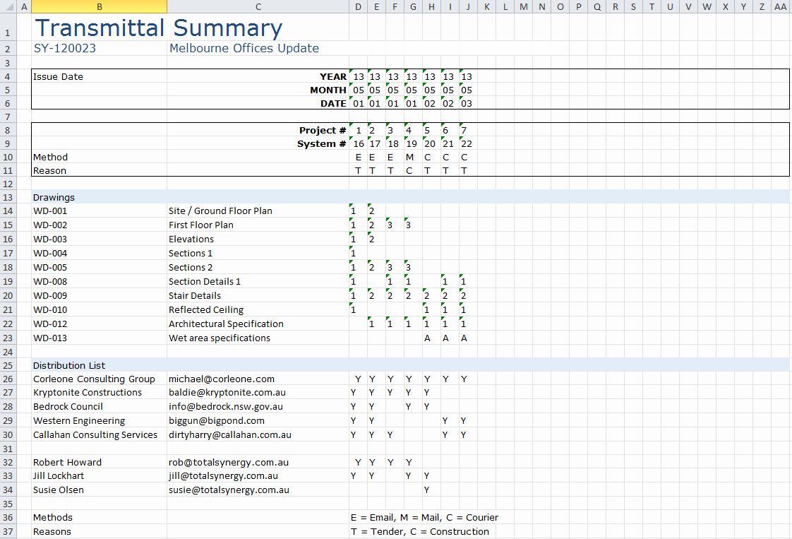 Document Transmittal form Template Fresh Transmittal Ms Excel Template