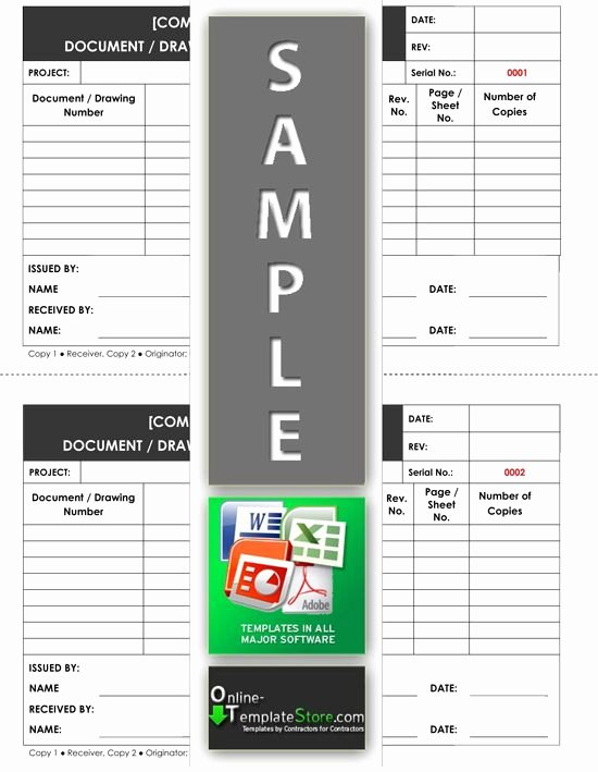 Document Transmittal form Template Inspirational Drawing Document Transmittal form