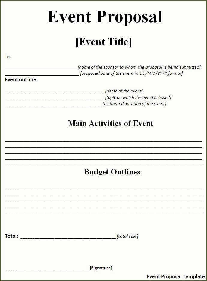 Documentary Proposal Template Fresh event Proposal Template Free Word Templatesfree Word