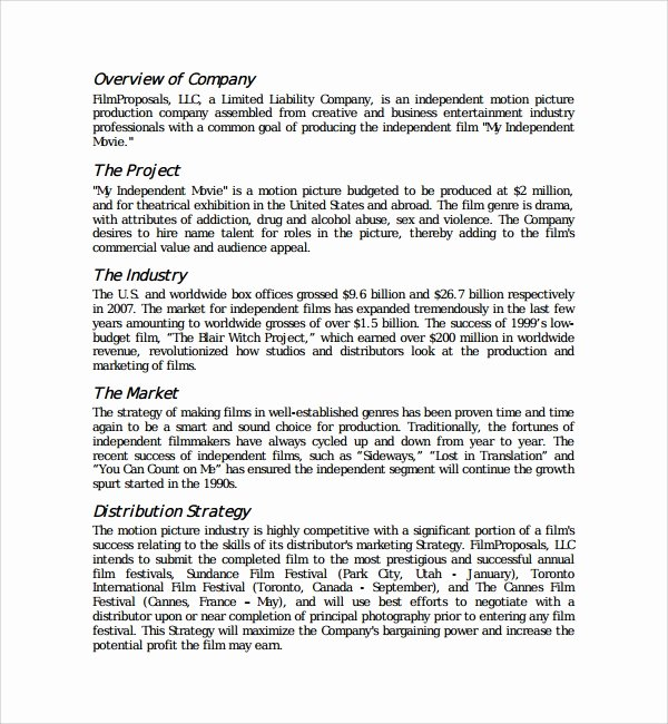 Documentary Proposal Template Lovely 16 Proposal Templates Pdf Word