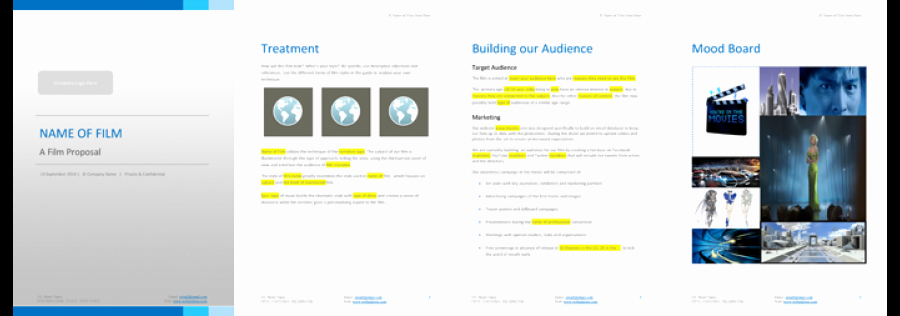 Documentary Proposal Template Lovely 5 Important tools to Raise Finance