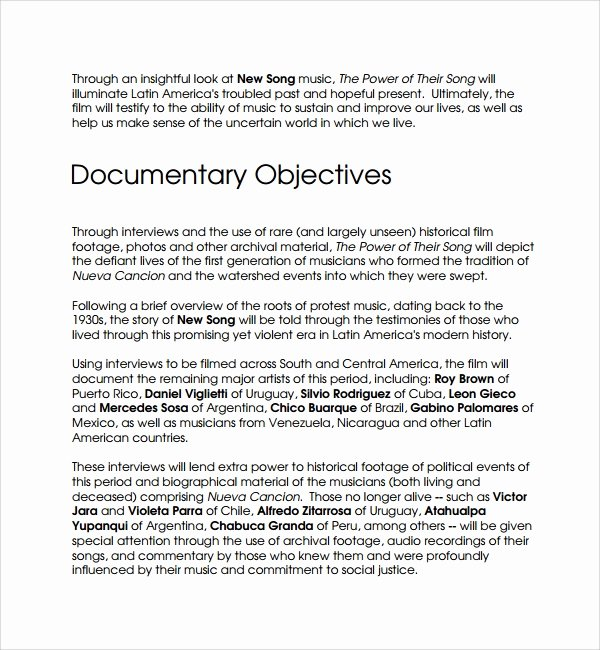 Documentary Proposal Template Luxury 16 Proposal Templates Pdf Word