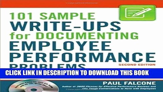 Documenting Employee Performance Template Best Of [pdf] 101 Sample Write Ups for Documenting Employee